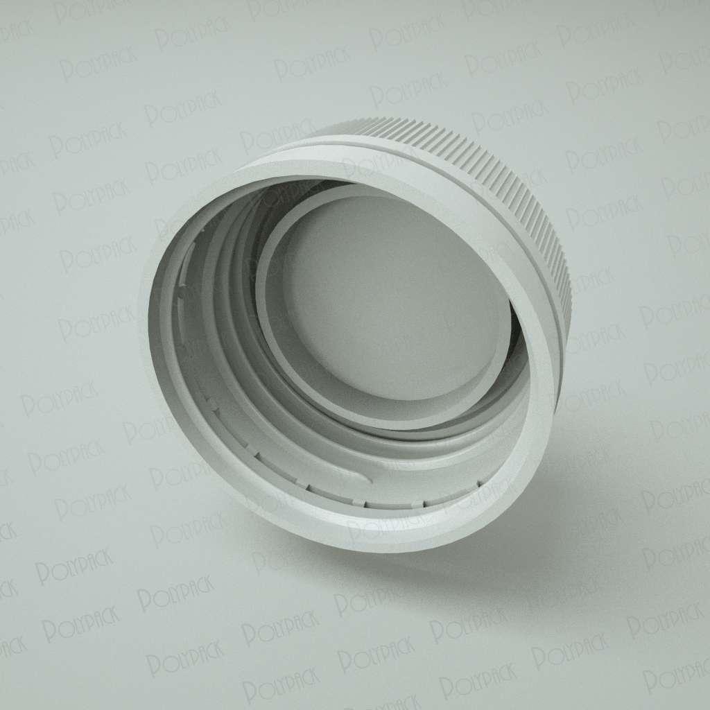 Крышка навинчиваемая 28 мм с контролем первого вскрытия для флакона 100 мл (с широким горлом) фото